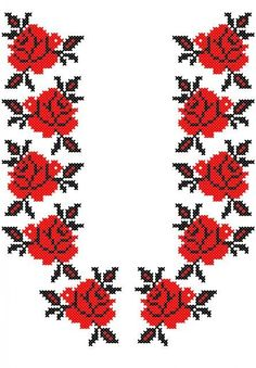 Cross Stitch Borders, Cross Stitch Rose, Cross Stitch Designs, Cross Stitching, Cross Stitch Patterns, Ribbon Embroidery, Cross Stitch Embroidery, Embroidery Patterns, Motifs Blackwork