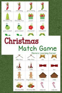Printable Christmas Games {for Kids} | Printable christmas games ...