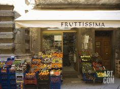 Grocery Store, Cortona, Tuscany, Italy, Euope Photographic Print by Angelo Cavalli at Art.com