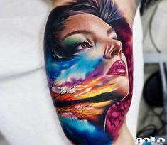 Gir face tattoo by Bolo Art Tattoo