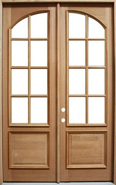 8/0 Mahogany Double Door 8-Lite Arch. Give your home an arched door look - with a straight top.