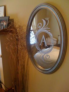 Personalize a mirror with Uppercase Living vinyl! http://bethalcazar.uppercaseliving.net