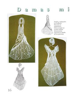 damas.. - Marina Feijoo - Picasa веб-албуми Ribbon Holders, Bobbin Lace Patterns, Lacemaking, Needle Lace, Celtic Designs, All Craft, Scrappy Quilts, String Art, Art Forms