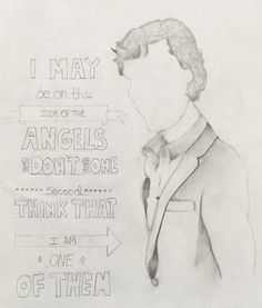 This is a drawing I did of Sherlock Holmes, hope I did him justice xx