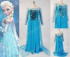 Snow Queen Elsa Fancy Dress Costume for Frozen Cosplay