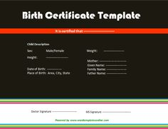 Birth certificate archives 123 certificate templates 123 with an online birth certificate template for ms word you can now create the document that you need this certificate template is customizable and printable yadclub Images