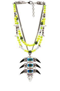 Assad Mounser Neon Long Pendant Necklace