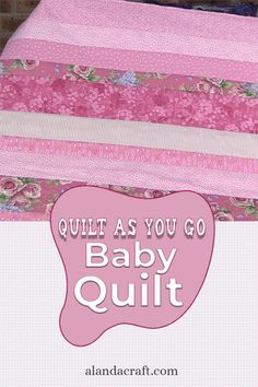 Super easy baby quilt to make. Ideal for beginners. These quilts make ideal baby shower gifts. Our step by step tutorial shows you how easy it is to make. Diy Baby Quilting, Baby Quilts To Make, Quilt As You Go, Easy Quilts, Quilting Templates, Quilting Patterns, Quilting Ideas, Sewing Patterns, Baby Quilt Tutorials