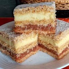 Karantén szelet Hungarian Cake, No Bake Cake, Vanilla Cake, Oreo, Cheesecake, Muffin, Food And Drink, Sweets, Cookies