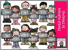 Monthly kidlettes by Melonheadz by melonheadzdoodles on Etsy