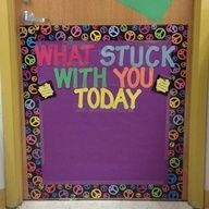 exit ticket on a sticky note and stick it on the door on the way out for a quick assessment of understanding.