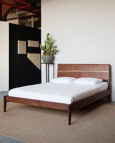 walnut bed no 2 by sukrachand on etsy - Japanese Platform Bed