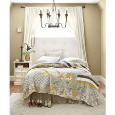 Lorraine Quilted Coverlet- Ballard  love the bed by window and the light