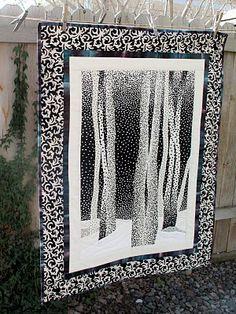 Winter Aspens, 26 x 34, pattern by Jayme Crow