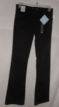 New-Womens-Size-6-Black-Jeans-Pants-Mid-Rise-Skinny-Comfort-Waist-by-Supplies