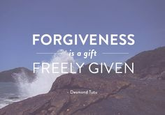 Forgiveness is at the heart of our faith - both receiving and giving.