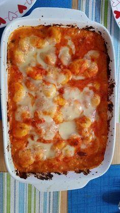 Gnocchi du four à la sauce paprika et tomate - Art Design Chicken Breast Recipes Healthy, Veggie Recipes, Pasta Recipes, Great Recipes, Cooking Recipes, Sauce Gnocchi, Baked Gnocchi, Gnocchi, Sweets