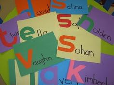 Name identification - circle time activity