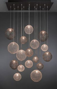 Contemporary glass chandelier BREATH: MOD  Shakuff