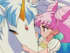 Sailor Moon : ChibiMoon and Helios/Pegasus