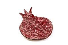 Ceramic pomegranate lace bowl