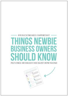 4 Extremely Important Things Newbie Business Owners Should Know - Starting A Business - Ideas of Starting A Business - So you've started a business now what? You need to read these four extremely important things new business owners should know. Business Advice, Business Entrepreneur, Business Planning, Business Marketing, Online Business, Successful Business, Business Opportunities, Business Notes, Insurance Business