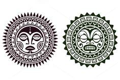 Polynesian Tattoo Masks by Vecster on @creativemarket