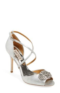 Badgley Mischka 'Sari' Crystal Open Toe Sandal (Women) available at #Nordstrom