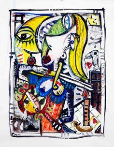 Dipinto moderno olio su tela pop art arte contemporanea arredamento ...