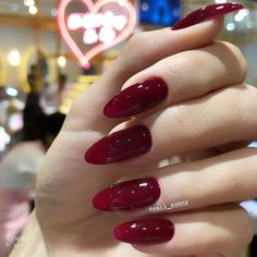 Stylish Nails, Trendy Nails, Cute Nails, Red Acrylic Nails, Red Gel Nails, Nagellack Design, Nail Polish, Nail Ring, Nail Nail