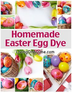 Homemade Easter Egg Dye - Decorating Easter Eggs And Natural Dyes