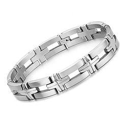 Men's Heart Stainless Steel Bracelet #pinittowinit #mensbracelet #florencescovel