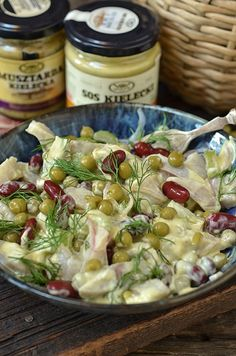 Seafood Salad, Pasta Salad, Fish Recipes, Salad Recipes, Cooking Recipes, Healthy Recipes, Snacks Für Party, Keto Diet For Beginners, Food Design