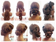 www.facebook.com/magicmirror.tw Dance Hairstyles, Fast Hairstyles, Elegant Hairstyles, Bride Hairstyles, Vintage Hairstyles, Bridesmaid Hair, Prom Hair, High Fashion Hair, Competition Hair