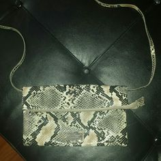 Nine West cross-body Python print w/detachable shoulder strap; can be carried as a clutch Nine West Bags Crossbody Bags