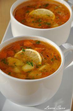 Supa greceasca de legume   Retete culinare cu Laura Sava Healthy Eating Recipes, Vegetarian Recipes, Cooking Recipes, Romanian Food, Soul Food, Soup Recipes, Easy Meals, Food And Drink, Yummy Food