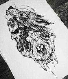 Trendy Tattoo Back Wolf Beautiful 51 Ideas Fenrir Tattoo, Norse Tattoo, Viking Tattoos, Hellhound Tattoo, Armor Tattoo, Warrior Tattoos, Skull Tattoos, Leg Tattoos, Body Art Tattoos