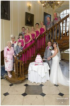 Everyone on the stairs at Gosfield Hall
