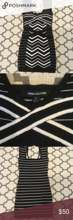 Wow couture Body-con bandage dress Cute body-con dress, only worn once! Like new! Nice thick material. WOW couture Dresses Mini