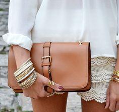 Clutch von Vintage — sturbock #vintage #clutch #brown #bracelets