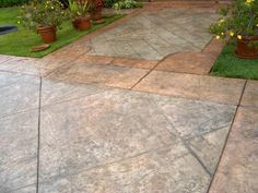 Tile Pattern Patio with Border