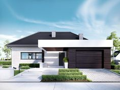 Find home projects from professionals for ideas & inspiration. Projekt domu HomeKONCEPT 32 by HomeKONCEPT Bungalow House Design, Modern House Design, Future House, My House, Single Storey House Plans, Circle House, House Design Pictures, Living Room Pictures, Design Case
