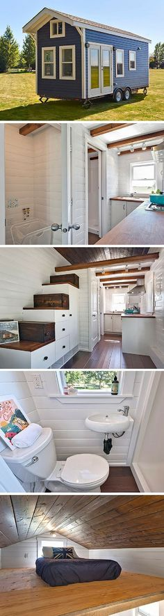 The Amalfi Edition tiny house. A 170 sq ft tiny house on wheels, made in Delta, British Columbia.