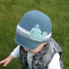Boys' Visor Hat / Crochet Whale Hat / Boys' by thejumpingjunebug, $25.00