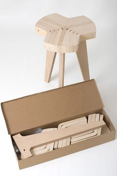 Wooden-Offset-Stool-Design-Styles