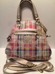 Hard to Find! Coach Daisy Madras F23541*Pre-loved. Starting at $15 on Tophatter.com!
