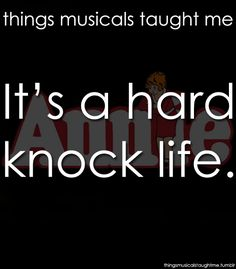 Things Musicals Taught Me, submitted by ash-j-mcrudden & oh-alejandro
