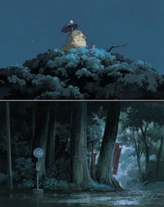 """Kazuo Oga for Ghibli """"Our Neighbour Totoro-Alice meets Disney in Osaka. Splendid movie with a light touch."""" KB"""
