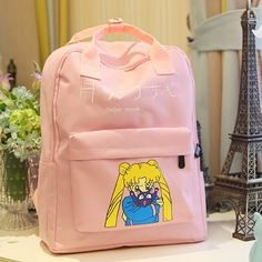 cute sailor moon canvas backpack from The Demon's Chest,WANT or NEED? Pink Blood, Kawaii Bags, Sailor Moon Luna, Novelty Bags, School Backpacks, Pink Backpacks, Baby Bling, Kawaii Jewelry, Kawaii Room