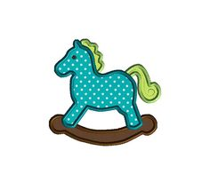 Rocking Horse Applique Machine Embroidery by SewChaCha on Etsy